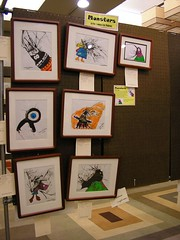 At the Boskone Art Show: my art! I sold 2 of them.