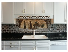 winemaker.jpg (lori.d (Lori Desormeaux)) Tags: kitchen glass wine mosaic grapes winebottles backsplash winemaker mosaicbacksplash loridesormeaux