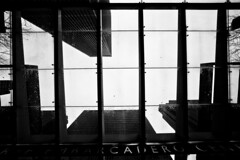I Almost Believe That the Pictures Are All I Can Feel (Thomas Hawk) Tags: sanfrancisco california blackandwhite bw usa building glass silhouette blackwhite unitedstates floor unitedstatesofamerica center financialdistrict johnportman embarcaderocenter cadero