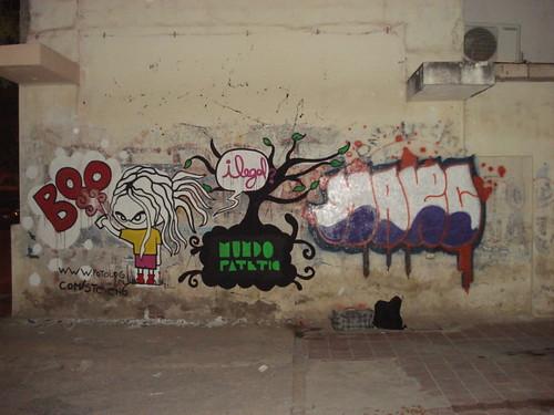 Pintada sobre calle Rivadavia