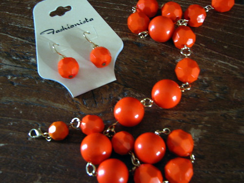 orange jewelry