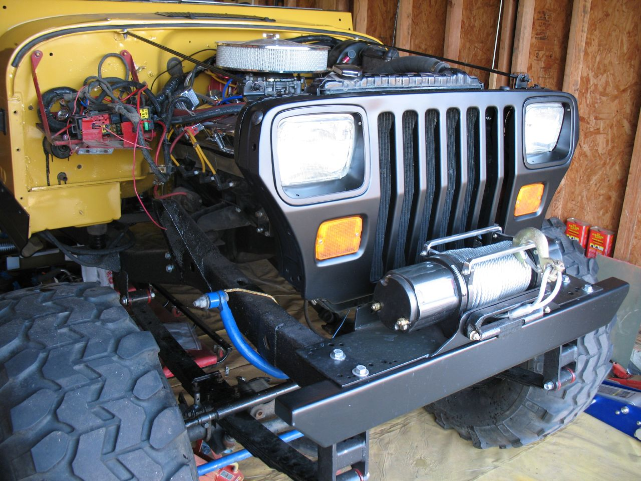 winch on stock bumper jeep wrangler forum