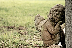 Crying angel (Polimom) Tags: stone angel child mourning marker grief challengeyouwinner fulshearcemetery