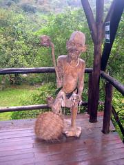 Wodden statue