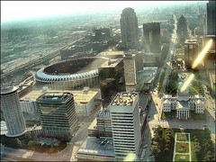 downtown St. Louis, from the Gateway Arch (by: k C, creative commons license)