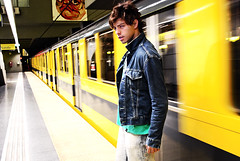 Ariel (JustTin) Tags: man ariel subway subte hombre
