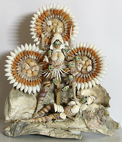 Kali depicted in shells