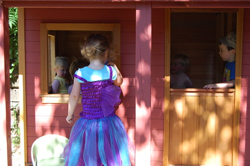 fairy dress at the window
