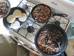 Gallo Pinto con Tortillas (rr0cketqueen) Tags: food costarica choza