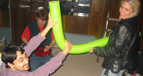 20080112 - Greg & Nicole's party - 149-4983 - Carolyn, Evan, Kipp - noodle fight