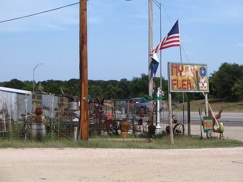 A flea market somewhere in rural Texas