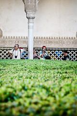 Granada (Spain): Alhambra Tourists (designladen.com) Tags: españa geotagged andalucía spain europa europe andalucia espana alhambra granada andalusia andalusien spanien generalife palaciosnazaríes img2992 espaa palaciosnazares palaciodegeneralife worldtrekker espaaspanienspain geo:lat=37177315 geo:lon=3589631