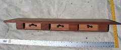Shelf Coat Rack (Imagination Unincorporated) Tags: original african shelf mahogany coatrack medalions medallions customshelf
