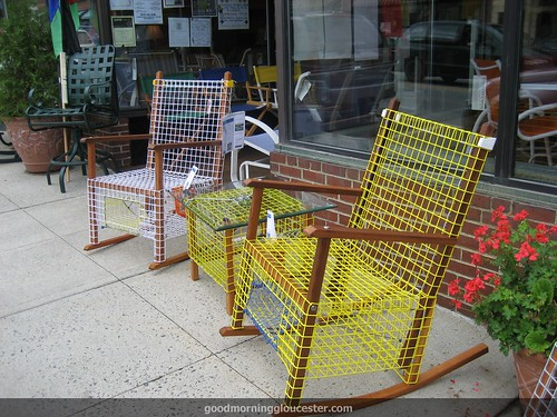 Lobster Trap Rocking Chairs Pic From Kristin Michel   GoodMorningGloucester