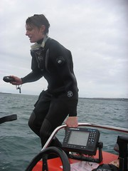 photo opportunity (squeezemonkey) Tags: camera sea portland boat harbour diver rib drysuit othree