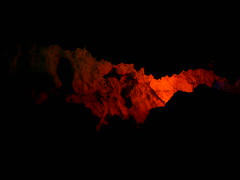 Red Light in the Cave (Hamid Salari) Tags: red iran ghar cave redlight   hamedan alisadr  alisadrcave