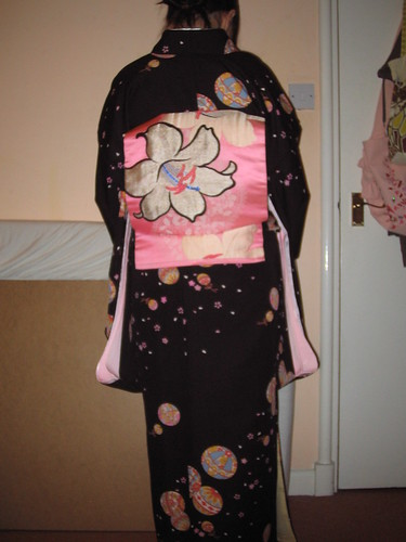 Black kofurisode - back