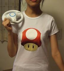 mario 香菇 T-shirt