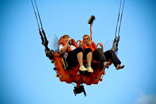 Slingshot - a ride at the Oregon State Fair in Salem Oregon