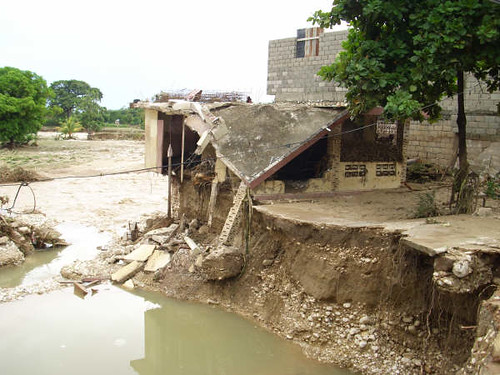 Hurricane damage in Haiti