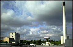 At work (Kirsten M Lentoft) Tags: chimney sky clouds hospital glostrup kirstenmlentoft