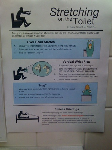 Googles Bathroom Exercises