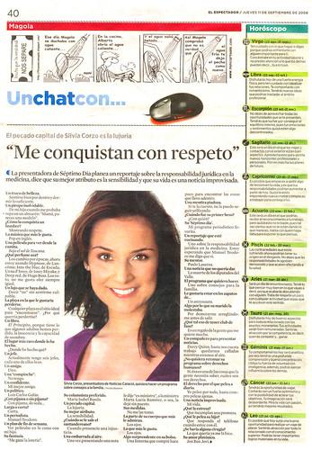 20080911 Silvia Corzo / El Espectador