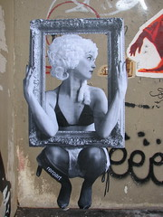 by Rero (tofz4u) Tags: woman streetart paris pasteup collage femme frame cadre streeart artderue 75011 rero wsawof reroart