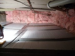 Crawl Space after insulating