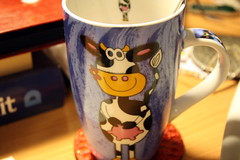Project 366, 221/366 (sohvimus) Tags: cow mug cupoftea kuppi mycupoftea takeaphotoaday project366 stilllearningthedslr
