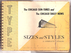 Type Specimen book: 1961 (typographyshop) Tags: chicago news typography newspaper daily lead chicagosuntimes typebook letterpressfontstype