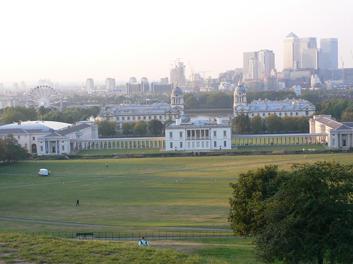 View of Greenwich from the observatory