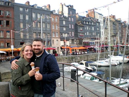 Us in Honfler Harbour 1