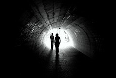there's always hope (loungerie) Tags: light shadow 2 two bw france hope tunnel stranger bn ombre strasbourg exit outline francia due luce galleria copertina uscita speranza strasburgo sagoma winnerflickrsweeklythemecontest