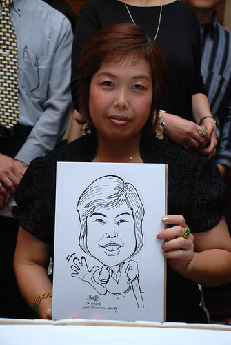 Caricature live sketching for Great Eastern Life D&D 2008 5