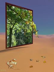 autumn leafs (HaPe_Gera) Tags: autumn abstract photoshop germany desert surrealism herbst surreal bones digiart leafes wüste