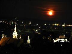 2007 07 01 - 0584 - Graz - View from Schlossberg (thisisbossi) Tags: moon night austria österreich graz moonillusion
