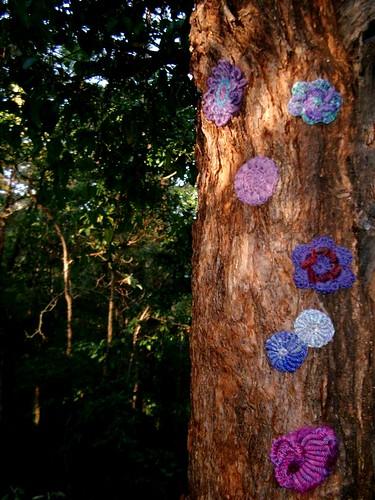 More crochet bullion stitch motifs