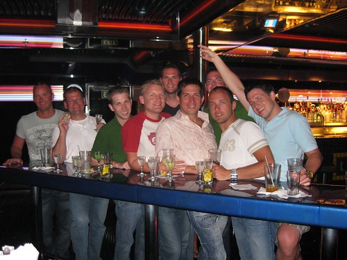 The gang at Stripes aboard Carnival Ecstasy