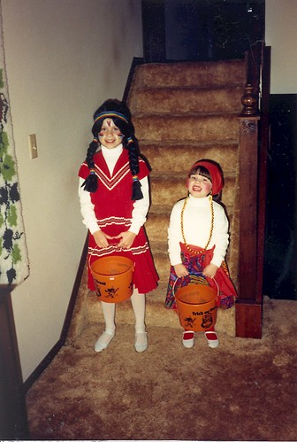 Halloween 1989 - An Indian and a Gypsy...again