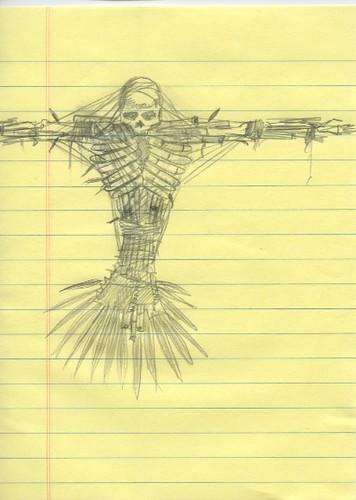 bamboo scarecrow