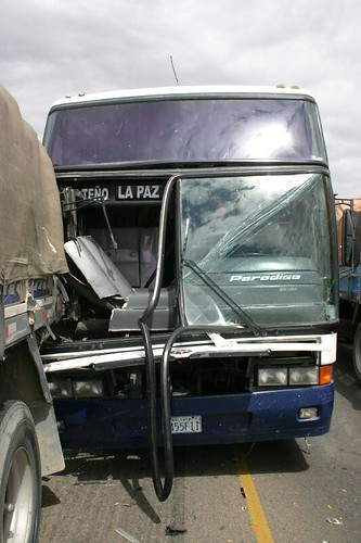 Bus crash south of Patacamaya, Bolivia.