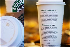 The Way I See It #141 ({Kimberly.Wood.Photography}) Tags: english coffee leaves french yummy cafe moi delicious starbucks latte 141 selon francais venti thewayiseeit singleshot outinthewoods cinnamondolcelatte bilingualcups perfectonafallday