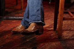 APG (Drizzten) Tags: blue macro austin photography wooden model cowboy floor meetup boots pentax 100mm jeans screwmount waterlooicehouse k100d controlledlighting justpentax supertakumar100mmf4macro