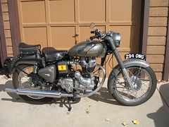 2000 Royal Enfield 350 Bullet (Jon Barbour) Tags: light 2000 tail royal plate front lucas number miller 350 solo seats headlight bullet enfield