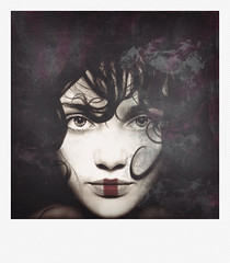 Stateless two. (vk-red) Tags: portrait woman square polaroid photography child country human anymore serie vkred
