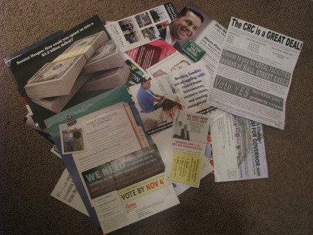 Political Mailings - General Election '08