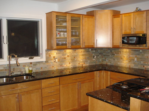 ... Looks With My Maple Cabinets.. You Gotta Be Prepared For Some Bling  With This Granite.. Depending On The Light Some Sections Of It Might Have A  Lot Of ... Gallery