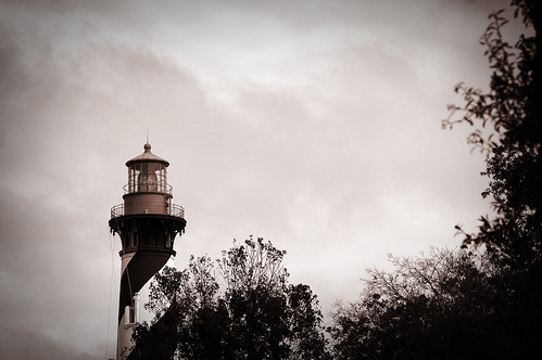 """Darkness reigns at the foot of the lighthouse"""