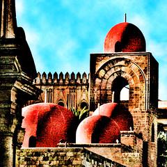 retorica palermitana (mypixbox) Tags: red italy icon sicily palermo stile sicilia sangiovanni arabo rosse img2432 qubba normanno colourartaward gobbette deglieremiti